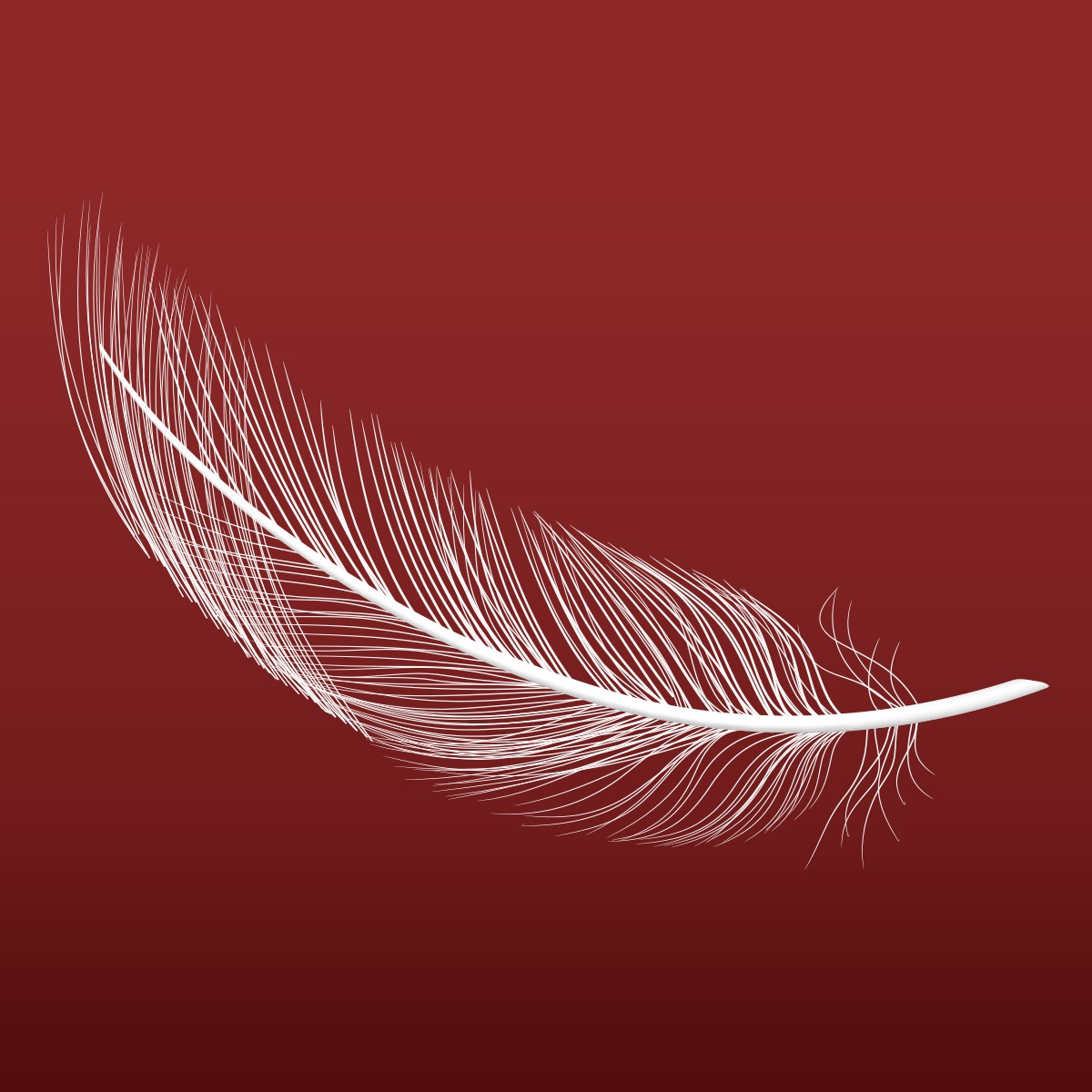 A feather falling